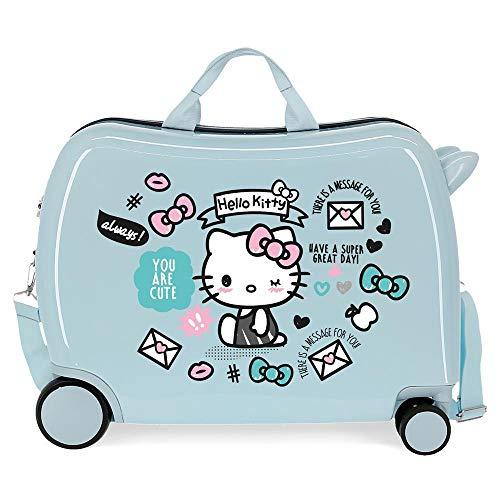 Hello Kitty You Are Cute Maleta Infantil Azul 50x39x20 cms Rígida ABS Cierre combinación 38L 2,1Kgs 4 Ruedas Equipaje de Mano