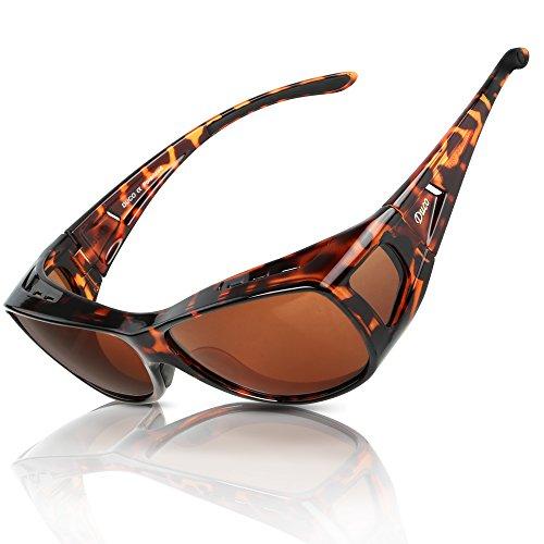 Duco polarizado sobre gafas de ajuste envolvente sobre los vasos para la miopía 8953 (M - Tortoise)