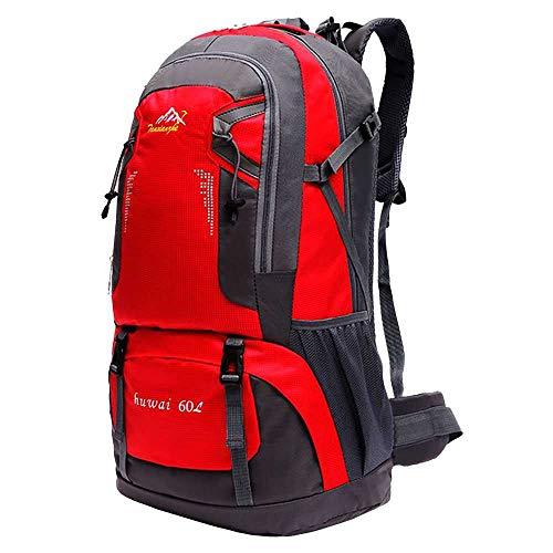 OcioDual Mochila de 60 litros para Senderismo Marcha de Montaña Trekking Camping Deporte al Aire Libre ergonómica Roja