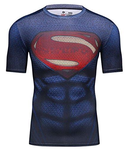 Cody Lundin–Camiseta de manga corta para hombres–Diseño de películas de superhéroes, Super F
