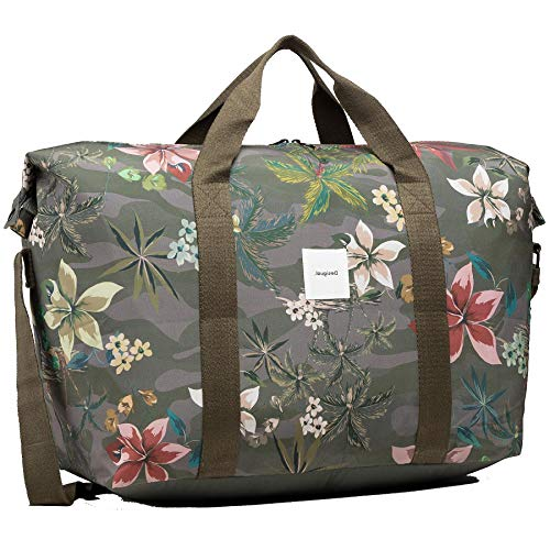 Desigual Woven Luggage, para Viajes. para Mujer, Verde, U