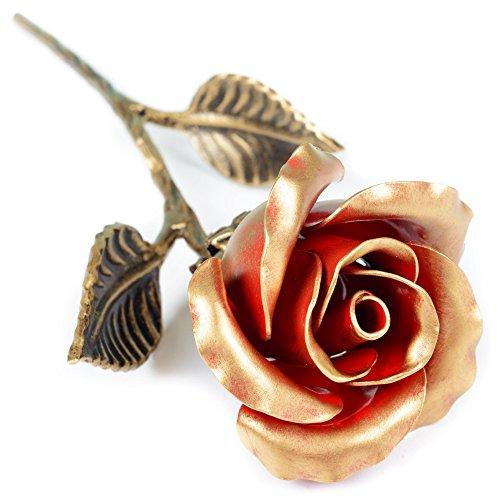 Rosa de hierro forjado a mano, regalo romántico de amor eterno