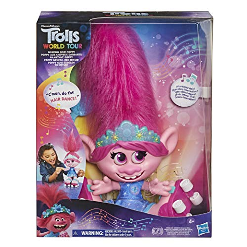DreamWorks Trolls World Tour - Muñeca interactiva con pelo móvil, para niñas y niños a partir de 4 años