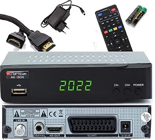 Opticum SBOX Con PVR Receptor Satélite HD y Reproductor Multimedia - Descodificador Satélite HD 1080p para TV DVB-S/S2 - Astra y Hotbird Preinstalados + Cable HDMI Anadol