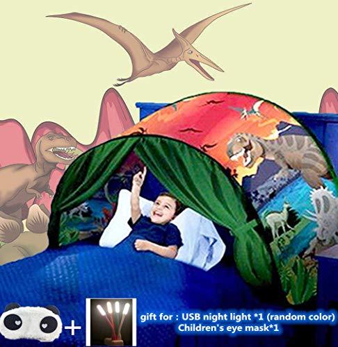 Tiendas De Ensueño,Carpa Para Cama,Carpa Cojin Molon,Carpa Niños,Carpa Infantil,Carpa Para Niños,Carpa Para Niños Plegable Mágica De Invierno,Navidad Y Regalos De Cumpleaños(Parque de dinosaurios)