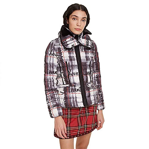 Desigual Coat Sigrun Abrigo, Blanco (Blanco 1000), 40 para Mujer