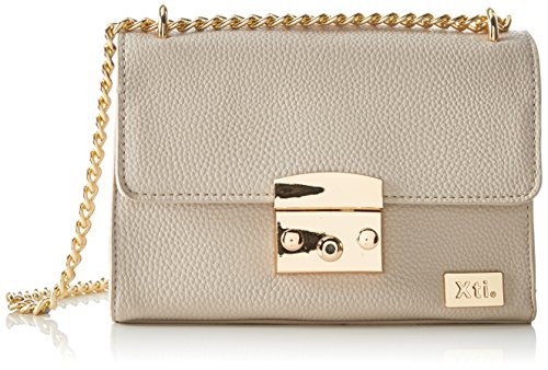 XTI Bolso bandolera para mujer Pu Ladies Bags, marfil, 6 x 15 x 20 cm