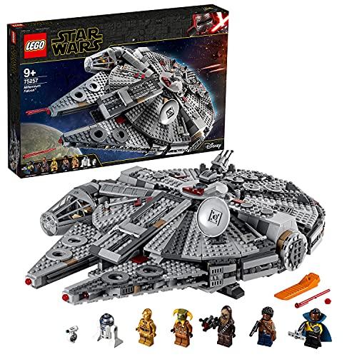 LEGO 75257 Star Wars Halcón Milenario Set de Construcción de Nave Espacial con Mini Figuras de Chewbacca, Lando, C-3PO, R2-D2