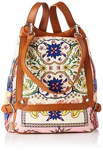 Desigual PU Backpack Big, Mochila de Poliuretano Grande. para Mujer, Rojo, Medium