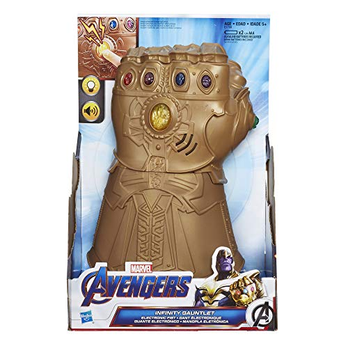 Marvel Avengers- Marvel War Infinity-Guantelete electrónico, Multicolor (Hasbro E1799EU61)