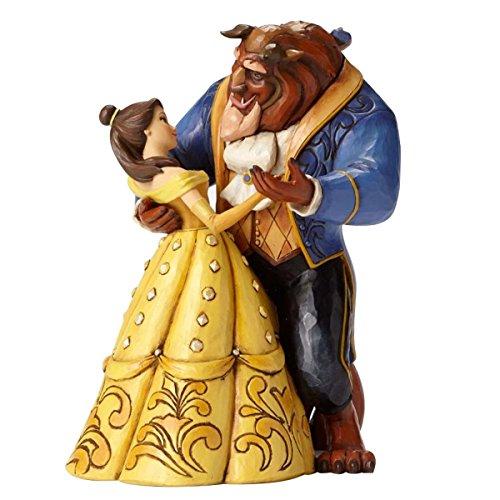 Disney Traditions, Figura de Bella y Bestia bailando de 'La Bella y la Bestia', para coleccionar, Enesco