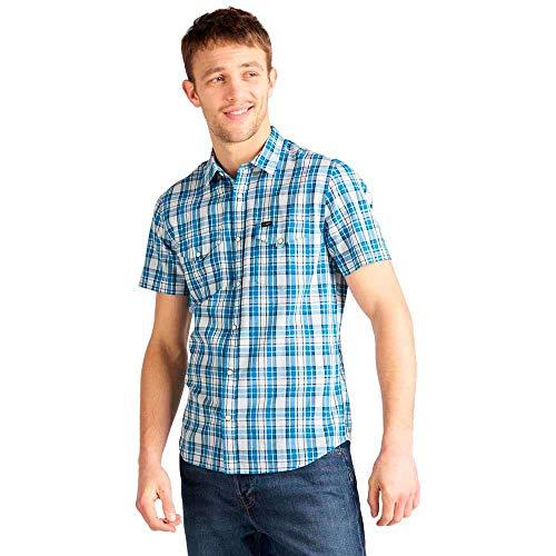 Lee Western SS Shirt Camisa Casual, Azul (Dipped Blue LA), Medium para Hombre