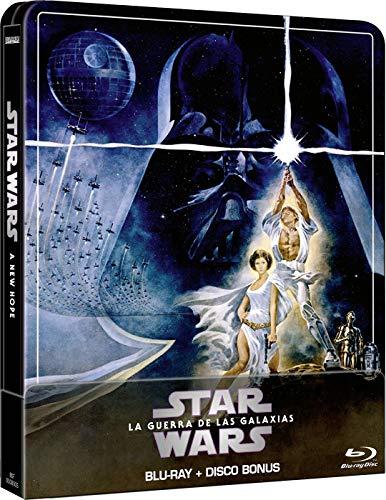 Star Wars Ep IV: Una nueva esperanza (Edición remasterizada) - Steelbook 2 discos (Película + Extras) [Blu-ray]