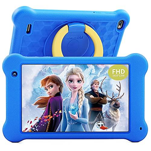 Tablet Niños 7 Pulgadas Tablet Infantil Android 10 Pantalla FHD 1920x1200 IPS 2GB RAM+32GB ROM, Control Parental Kidoz Instalado Protección de Ojos Anti Blue Light Screen Tablet para Niños