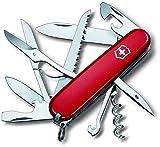 Victorinox Huntsman 13713B1 - Cuchillo (9,1 cm, 2,7 cm, 107g, Acero inoxidable, Rojo, Acero inoxidable)