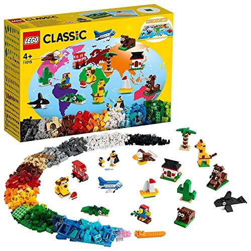 LEGO 11015 Classic Alrededor del Mundo, Set de Construcción para Niños +4 Años, Juegos Creativos con Animales de Juguete