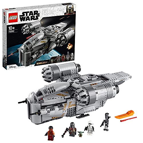 LEGO75292StarWarsTheMandalorianTheRazorCrestNaveEspacialdelCazarrecompensasJugueteconFiguritadelNiño