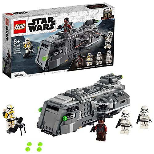 LEGO 75311 Star Wars Imperial Armoured Marauder Building Toy for Kids Age 8 , Mandalorian Model Set with 4 Minifigures