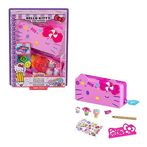 Hello Kitty Set de juego de lápices con diseño de Carnaval con muñecos y accesorios de juguete (Mattel GVC41)