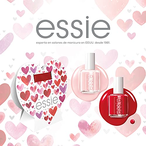 Essie, Kit de Manicura con 2 Esmaltes de Uñas, Incl. 1x Laca de Uñas Tono 013 Mademoiselle (Rosa) 13,5 ml, 1x Laca de Uñas Tono 60 Really Red (Rojo) 13,5 ml