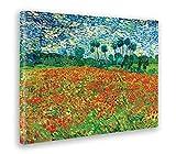 Giallobus - Cuadro - Impresion EN Lienzo - Vincent Van Gogh - Campo DE Amapola - 50 x 70 CM