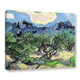 Galería de Arte Paredes olivos Envuelto Lienzo de café por la Noche de Vincent Van Gogh, 24por 32Pulgadas