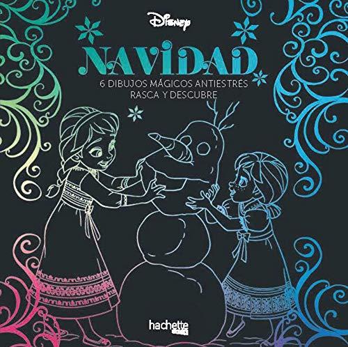 Arteterapia. Navidad Disney. 6 dibujos mágicos antiestrés. Rasca y descubre (Hachette Heroes - Disney - Arteterapia)