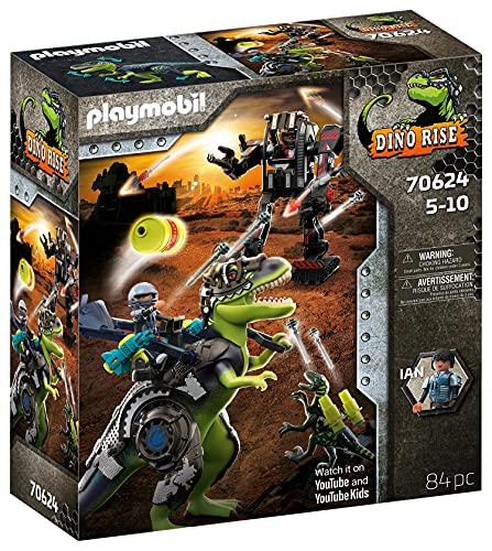PLAYMOBIL Dino Rise 70624 T-Rex: Batalla de Gigantes, A partir de 5 años