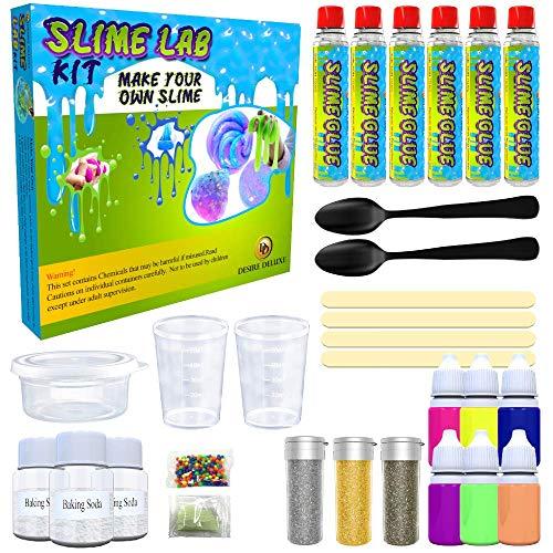 Desire Deluxe Fábrica para Hacer Slime DIY   Kit con Todas Las Cosas para Niños de 4 5 6 7 y 8 años