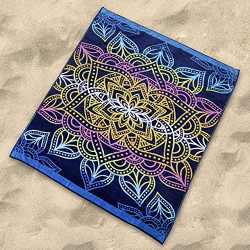 Sibiles - Toalla Playa Grande Doble de 175x150 cm Algodón Egipcio 100%. Totem, 8435563728788