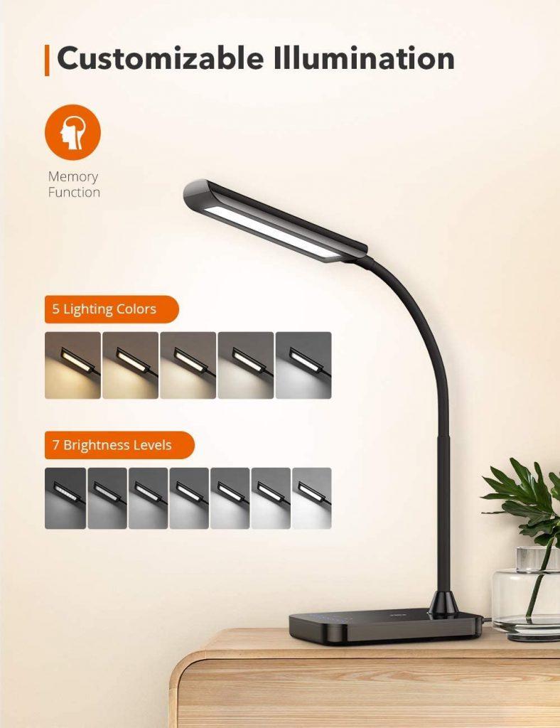 TaoTronics Lámpara Escritorio LED 7W Flexo Escritorio