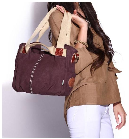 8cd356494 Bolso de lona y tela mujer marca Eshow por 22€