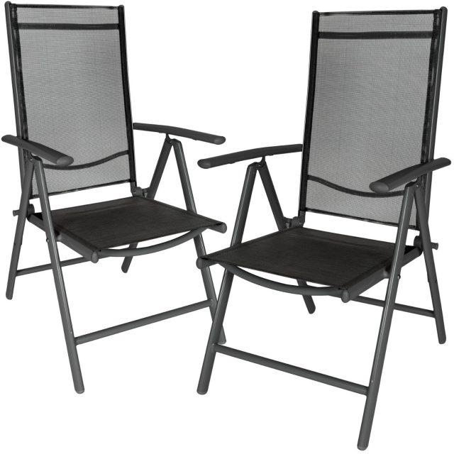 juego 2 sillas de jard n aluminio marca tectake baratas