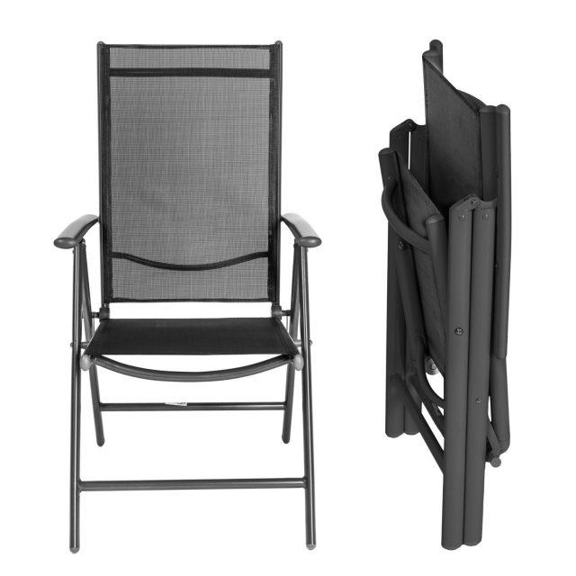 Juego 2 sillas de jard n aluminio marca tectake baratas Sillas para jardin baratas