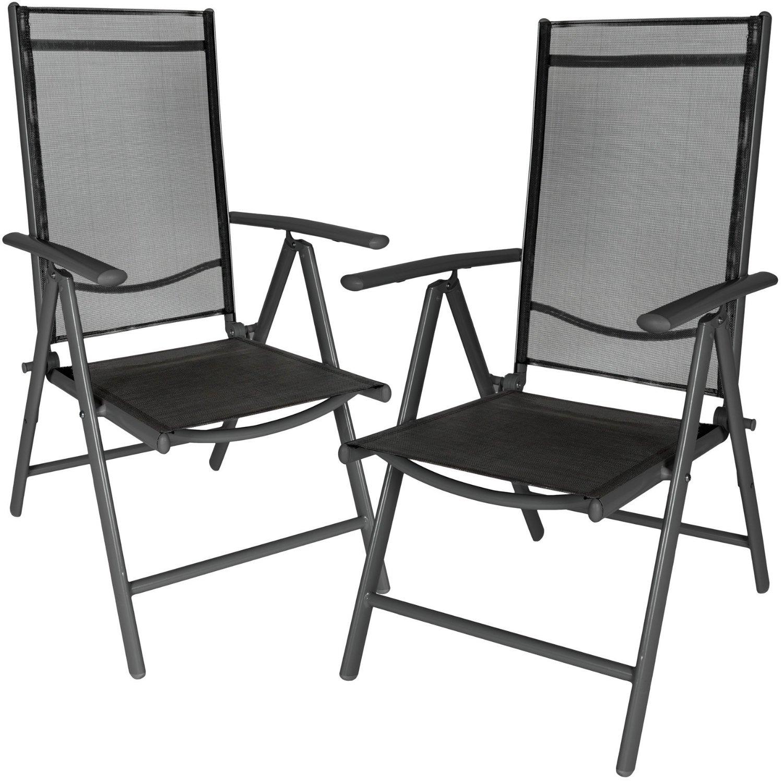 Juego 2 sillas de jard n aluminio marca tectake baratas for Sillas para jardin baratas
