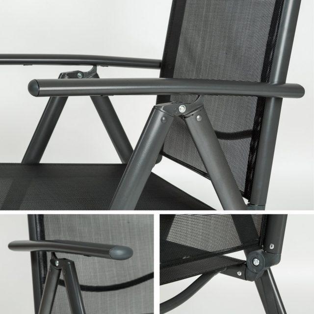 Juego 2 sillas de jard n aluminio marca tectake baratas for Sillas jardin baratas