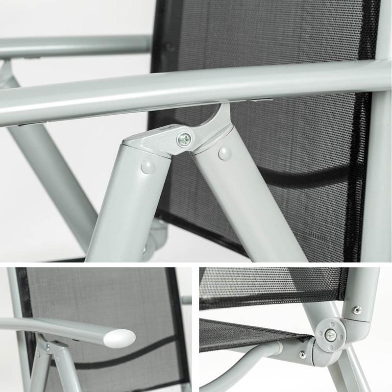 Sillas de jard n aluminio marca tectake baratas juegos de for Sillas de jardin de aluminio