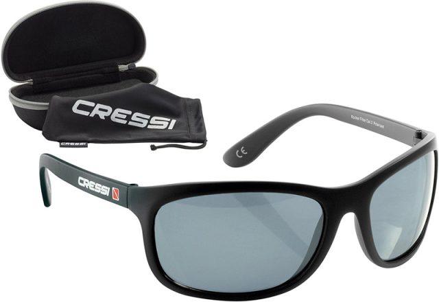 Gafas de Sol para Hombre Cressi Rocker, cristales polarizados 100% anti-UV