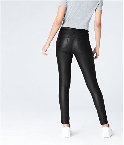 Pantalones ajustados efecto cuero