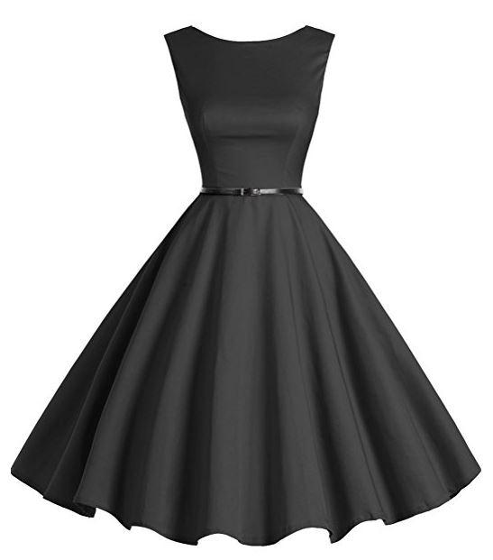 vestido clásico negro