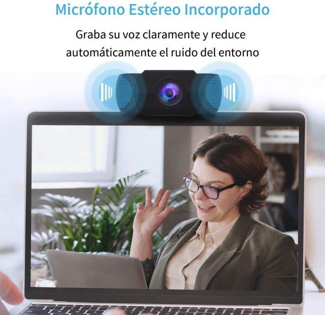 webcam con micrófono estéreo