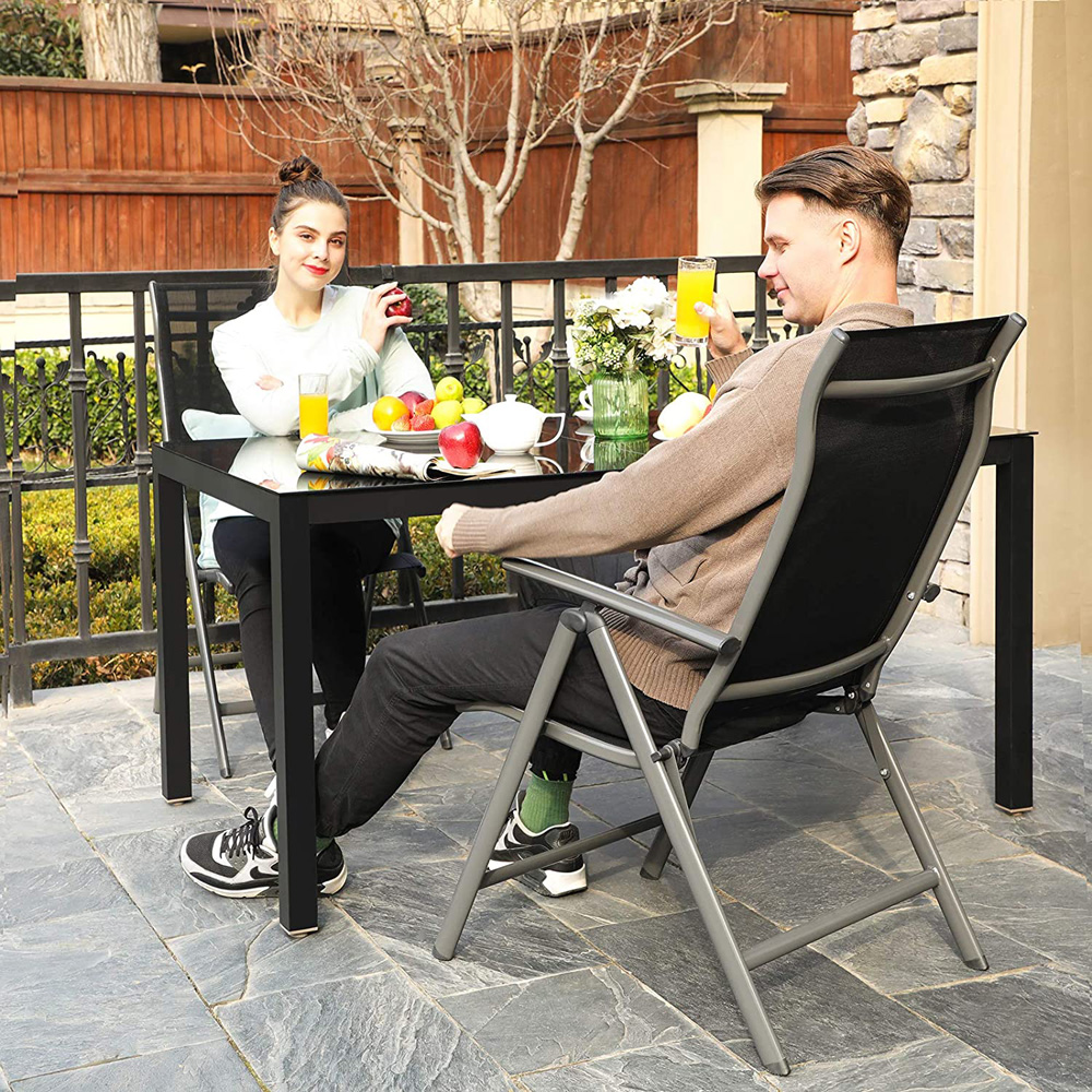 juego sillas para exterior resistentes