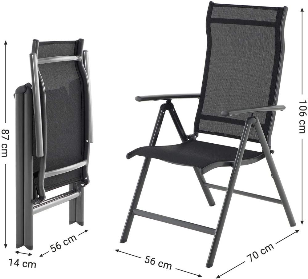 dimensiones sillas plegables exterior