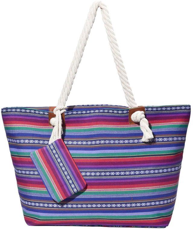 bolsa de playa hippie
