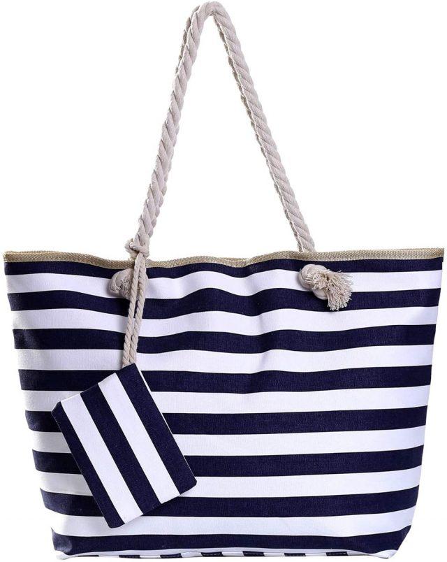 bolsa de playa grande de rayas