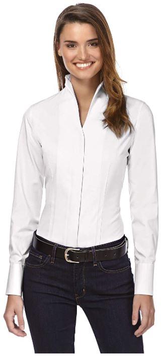 camisas blancas manga larga mujer