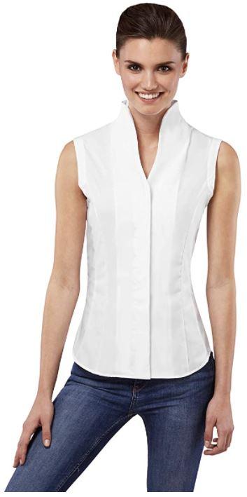 camisas blancas sin manga mujer
