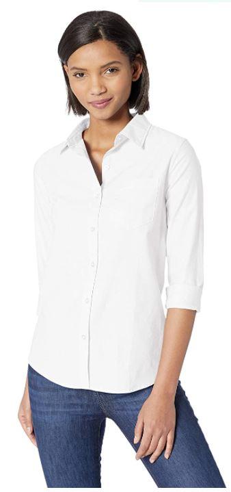 camisas blancas mujer amazon
