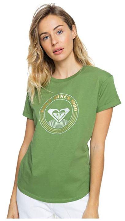 camiseta verde mujer roxy