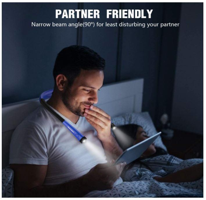 lampara led de cuello para leer por las noches